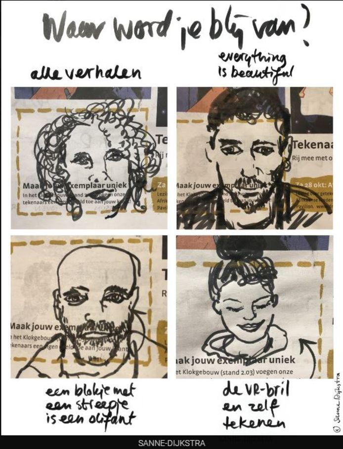 Tekening van Drawing the Times