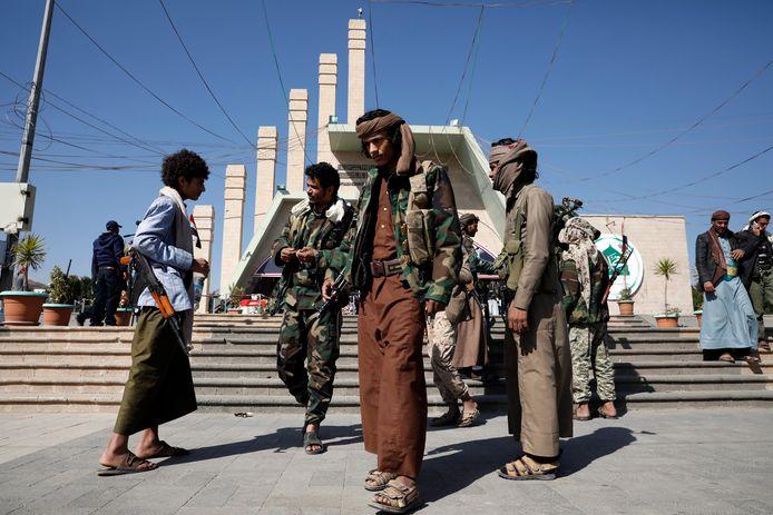 Houthi-rebellen in Sanaa, Jemen.