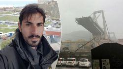 """""""Ik reed over de brug toen ze instortte. Het wegdek verdween voor mijn neus de dieperik in"""": man duikt met wagen tientallen meters naar beneden maar overleeft"""
