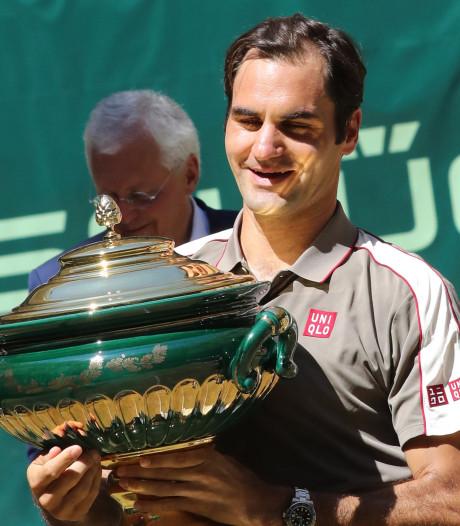 Tiende eindzege in Halle voor Federer