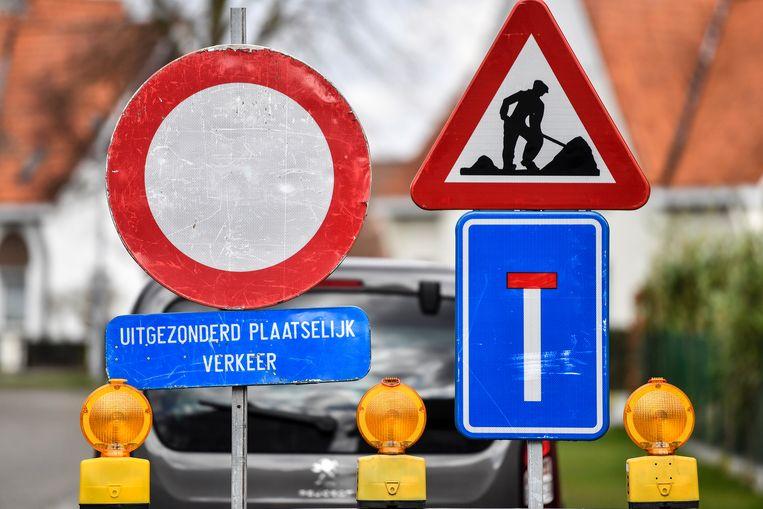 Tijdens de werken zal de Hoogstraat afgezet worden.