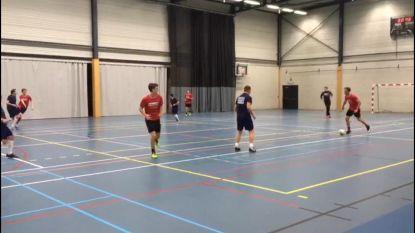 Start van de nieuwe competitie van zaalvoetbalclub Ranst met twee nieuwe ploegen