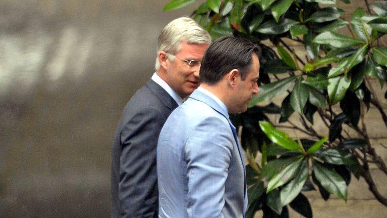 Koning Filip en N-VA-voorzitter Bart De Wever.