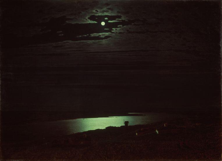 Nacht op de Djnepr (1880) door Archip Koeïndzji.  Beeld Getty