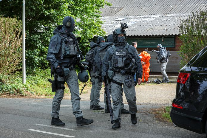 Arrestatieteam in Drempt.