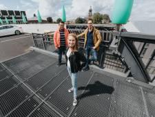 Een jazzfeestje op het dak van parkeergarage De Parade in Bergen op Zoom