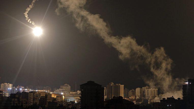 Gisteravond werd er opnieuw hevig gevochten in Gaza. Beeld ap