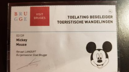 """Gidsenbond klaagt: """"Zelfs Mickey Mouse krijgt pasje in Brugge"""""""