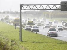 Ongeluk met meerdere auto's op A28 bij Nijkerk