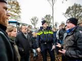 Boeren protesteren bij kap in natuurgebied Stelkampsveld bij Barchem