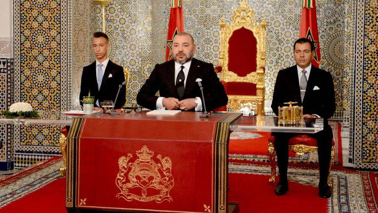 Vlak na de gratieverlening sprak de koning zijn troonrede uit.