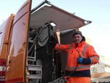 Inspectie buizen straat Gorinchem na breuk waterleiding