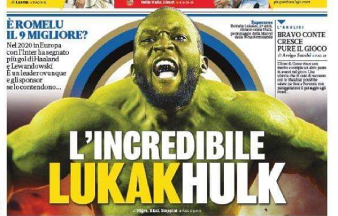 Lukaku siert vandaag de cover van La Gazzetta dello Sport.