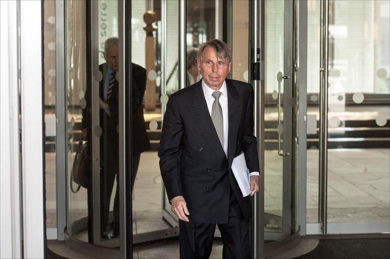 John Deuss werd veroordeeld wegens illegaal bankieren en voorkwam in 2013 verdere strafvervolging met een schikking van 35 miljoen euro Beeld anp
