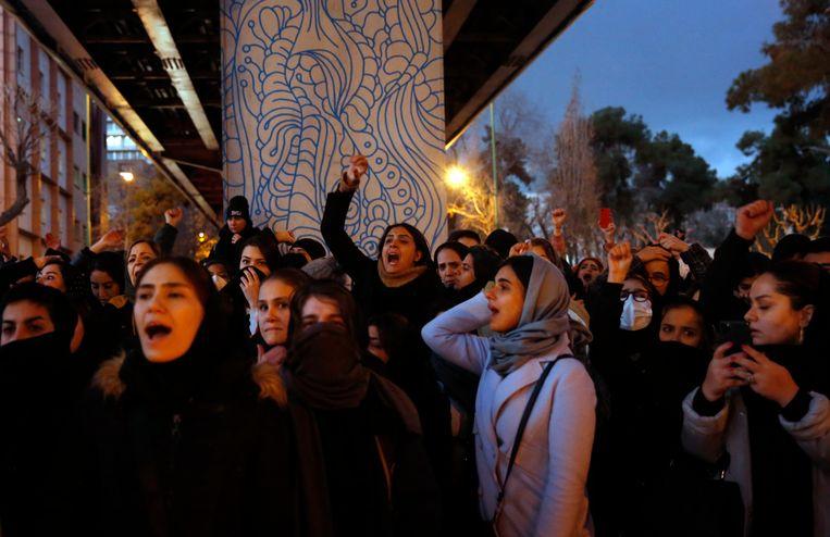 Gisteren werd ook al betoogd in de Iraanse hoofdstad Teheran.