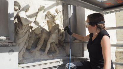 """Restauratie van eerste statie gestart: """"Of Christus gezicht terugkrijgt, weten we nog niet"""""""