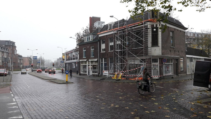De hoek Stationsstraat - Gerdesstraat in Wageningen