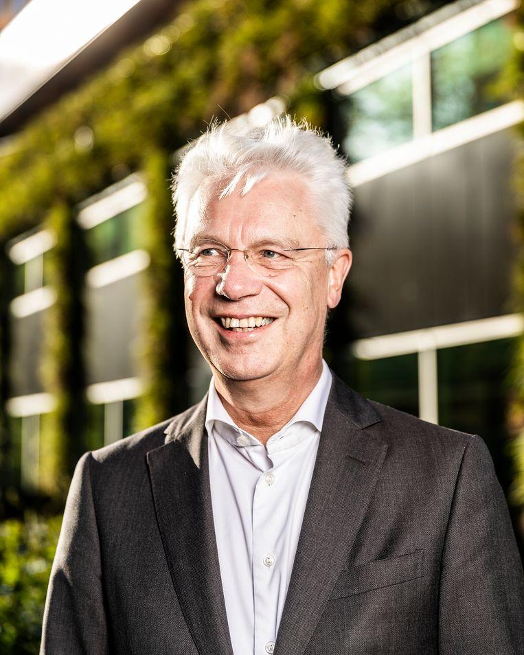Kees van Dijkhuizen blijft tot april volgend jaar aan als topman van ABN. Beeld Jiri Büller