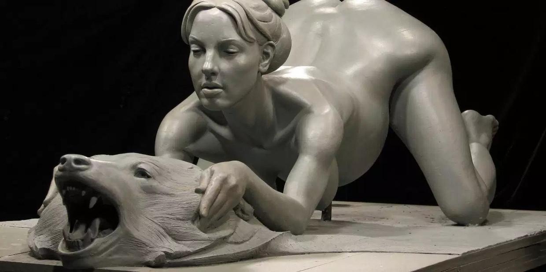 Een standbeeld van Britney Spears Beeld