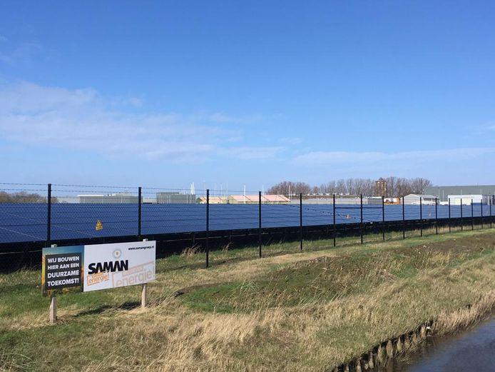 Het zonnepark bij Zierikzee