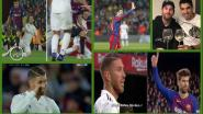 Dit zag je nog niet tijdens en na Barça-Real: het gebaar van Piqué, de stamp van Suarez en de 'tranen' van Ramos