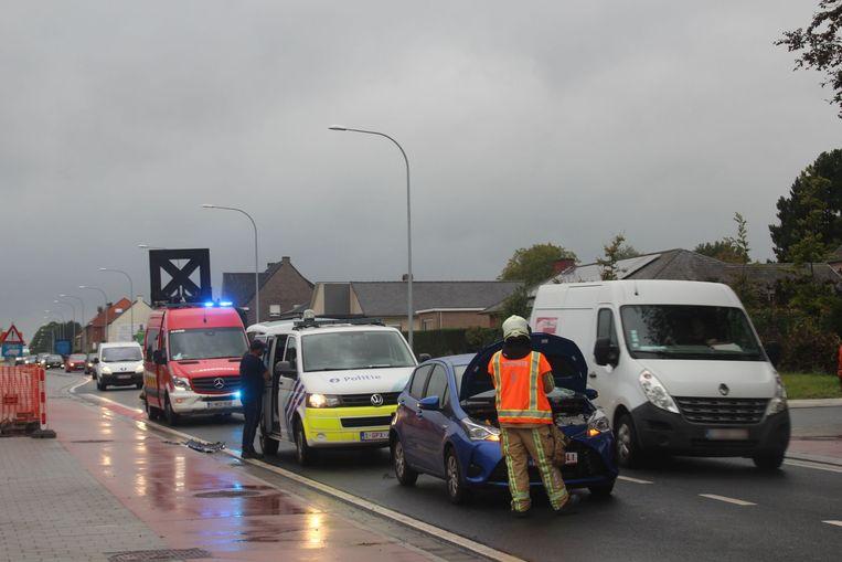 Door het ongeval was de rijstrook richting Aalst een tijd versperd.