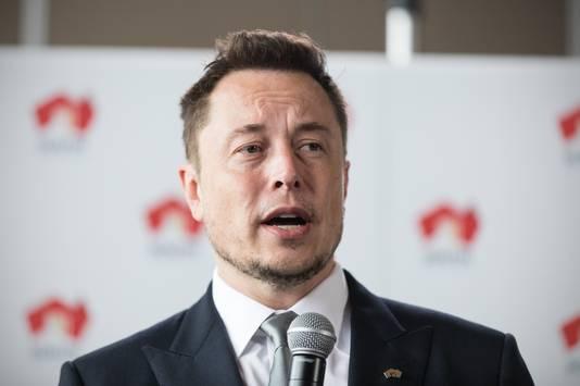 Tesla-ceo Elon Musk vorig jaar tijdens een persconferntie in Adelaide, Australië.