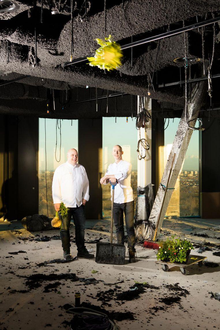 Executive chef Alexander Brouwer en chef-kok Luc Kusters Beeld Jaap Scheeren