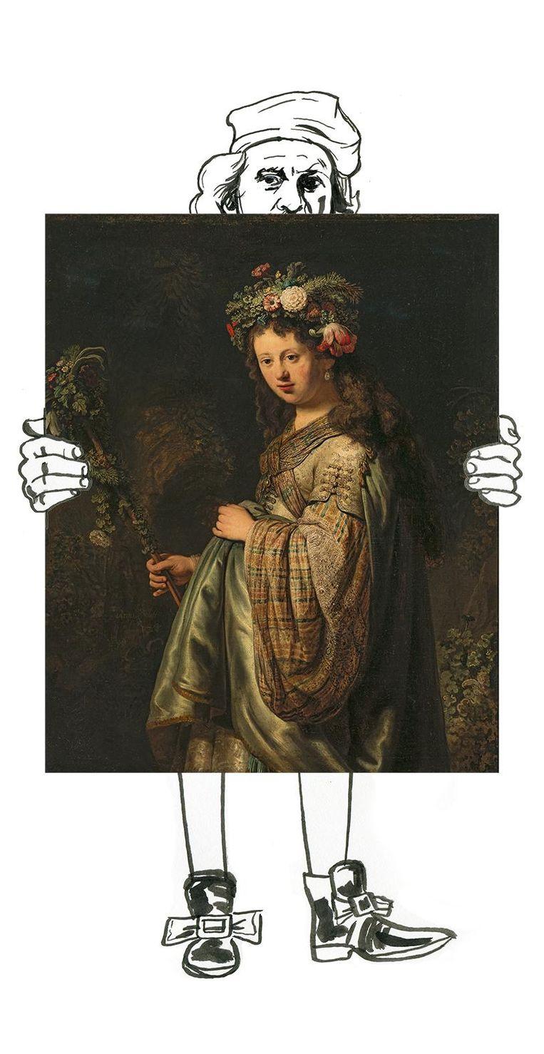 Rembrandt van Rijn, Flora. Beeld Hermitage Museum, St Peters