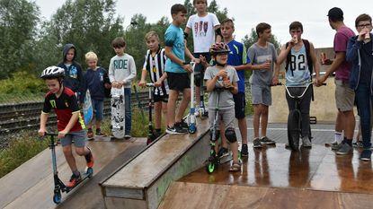 Pop-up skatepark aan station Scheldewindeke