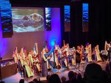 'Onder water' gedompeld in Nuenen door Blue Planet Harp Ensemble