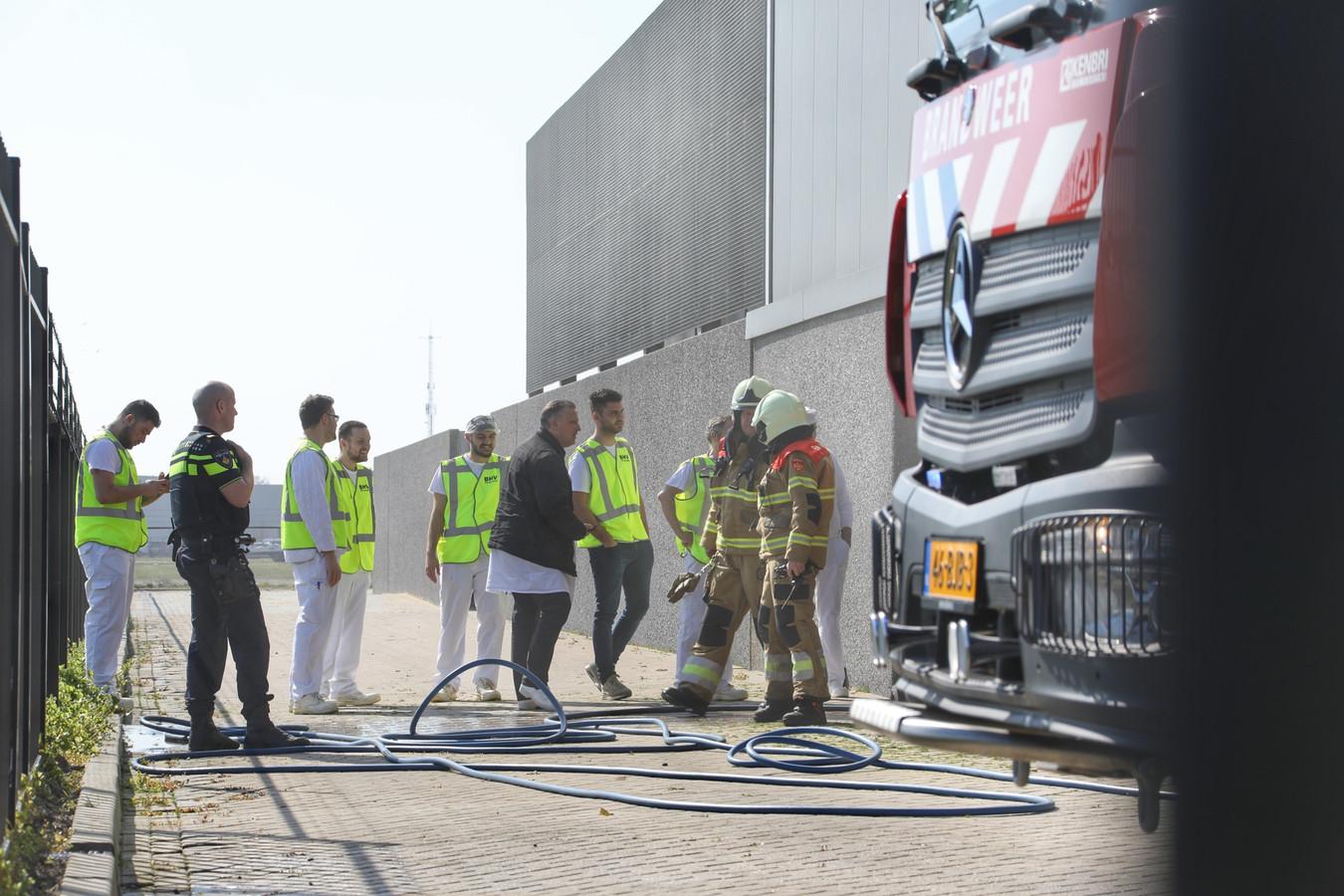 Brand bij AFB International in Oss.