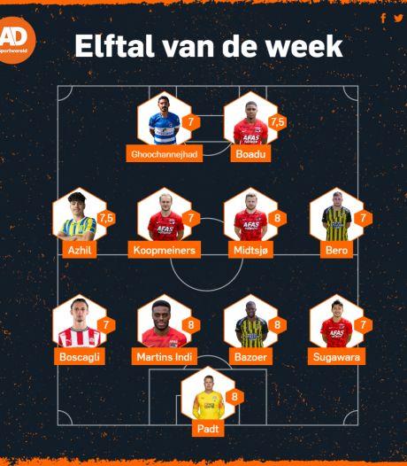 Elftal van de Week: Plek voor Bazoer en Bero van Vitesse, AZ hofleverancier