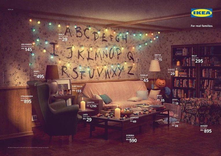 De Stranger Things woonkamer van Ikea.