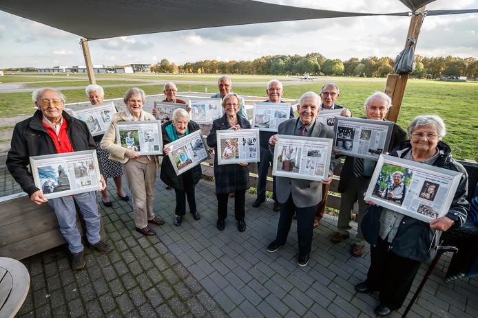 Op Breda International Airport/Seppe kwamen de mensen bijeen die figureerden in de serie bevrijdingsverhalen.