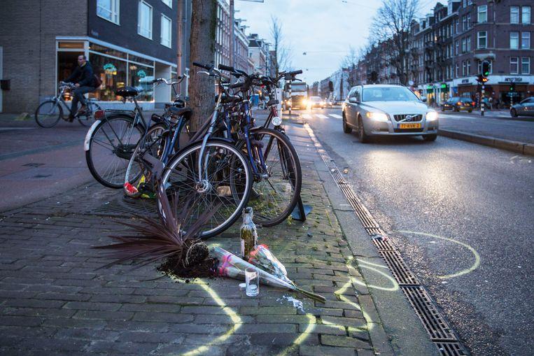 De plek waar het ongeluk plaatsvond Beeld Maarten Brante
