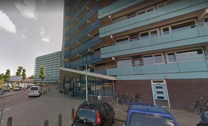 De flat aan het P.J. Oudplein in Zwijndrecht