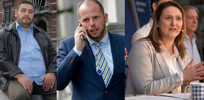 Redouane Ahrouch (Islam), Theo Francken (N-VA) en Gwendolyn Rutten (Open Vld).