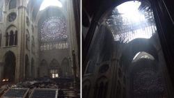 Zo ziet de Notre-Dame er nu vanbinnen uit