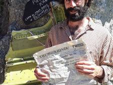 Fransman vindt op gletsjer ruim 50 jaar oude kranten uit gecrasht vliegtuig