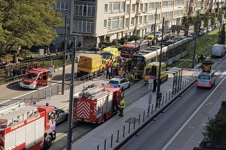 Het ongeval gebeurde op de Charles Woestelaan in Jette.