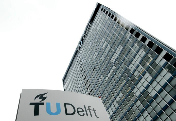 Exterieur van TU Delft-gebouw