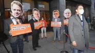 """Vlaams Belang voert actie aan CD&V-congres: """"Top heeft haar kar gekeerd maar basis kan nog het verschil maken"""""""