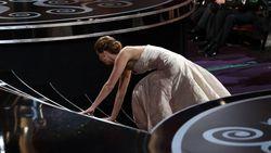 Van Jennifer Lawrence tot Heidi Klum: de tien gênantste vallen van celebs