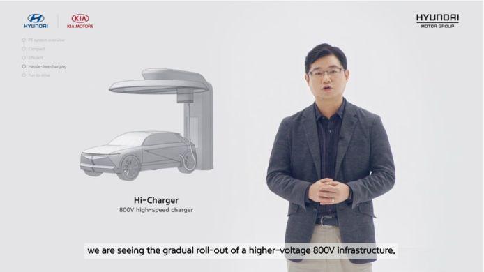 Laden met 800 Volt (zoals bij de Porsche Taycan) wordt vanaf volgend jaar ook mogelijk bij Hyundai