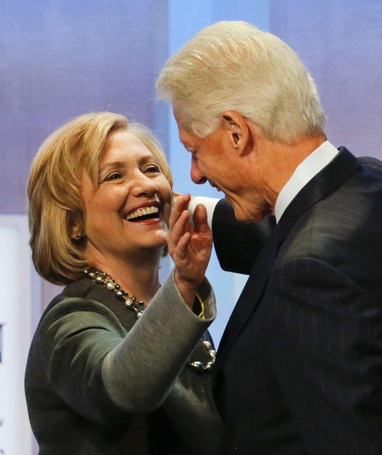 Hillary en haar man Bill Clinton