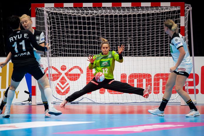 Dinah Eckerle redt wéér tegen Nederland.