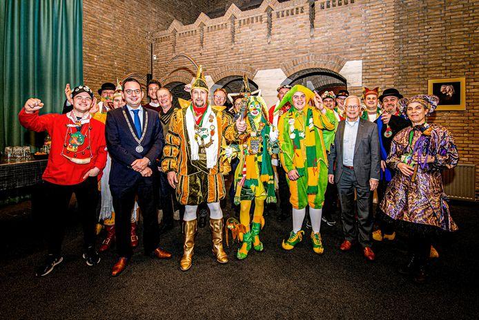 17-02-2020 - Hoogerheide - Foto: Pix4Profs/Peter Braakmann - De prinsen carnaval van alle kernen uit de gemeente Woensdrecht zijn vanavond te gast bij burgemeester en wethouders in de raadszaal van het gemeentehuis