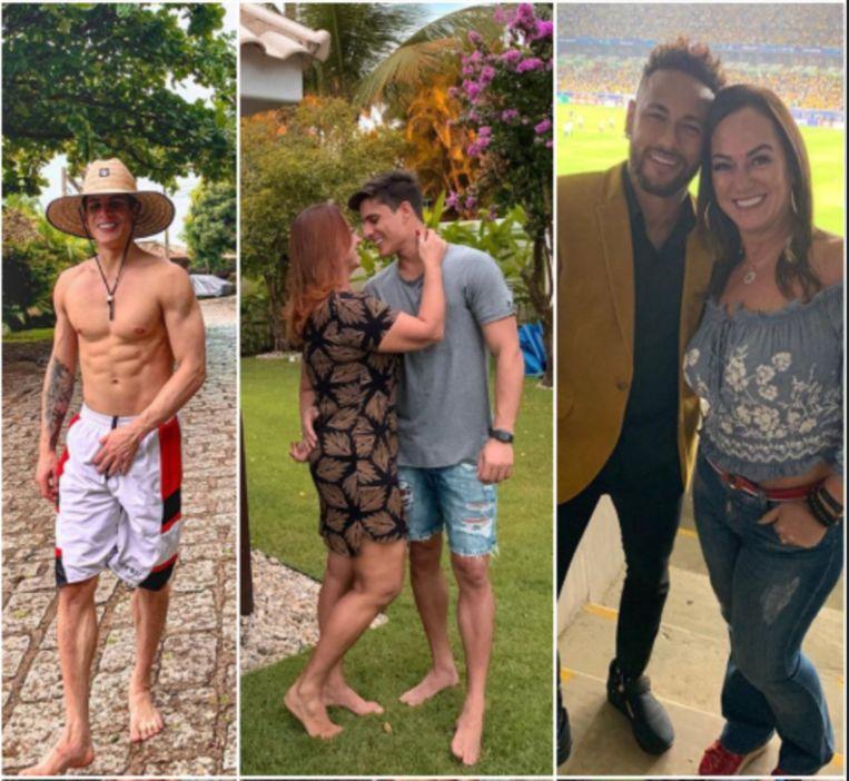 Nadine Gonçalves (moeder Neymar) met haar nieuwe vriend.