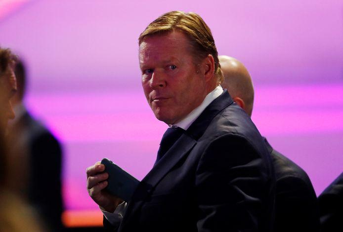 Ronald Koeman was ook aanwezig bij de loting in Boekarest.